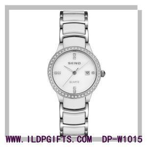 China 2017 Diamond Ceramic Lady Watch Wholesale Japan Movt 3ATM Waterproo Quartz Watch on sale