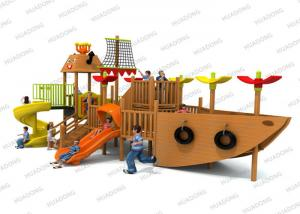 China Ship Series Children ' S Wooden Playground Equipment Colorful Slides In Big Size on sale