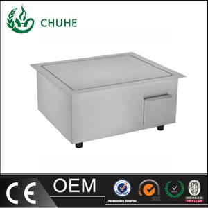 China Chuhe stainless steel built in griddle cooker with 220v for kitchen equipment on sale