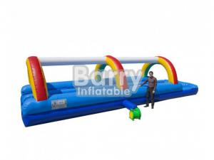 China Commercial Rainbow Inflatable Water Slide Inflatable Slip And Slide For Kids on sale