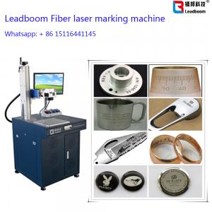 China ABS Board Plastic Portable Fiber Laser Marking Machine Glasses Printing Machine on sale
