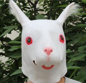 China Youtumall 2014 White Latex Rabbit Head Mask-Best Gift For Girl on sale