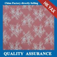 China YAX China supplier wholesale Charming Mesh white 100% nylon scalloped lace fabric for wedding dresses on sale