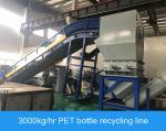 Durable PET Bottle Recycling Machine 3000kg / Hr Consumer Bottle Washing Machine