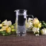 990Ml Borosilicate Double Wall Glass Tableware Clear Glass Jug For Water