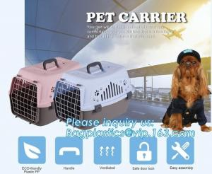 China Fashion Design Luxury Travel Pet Air Carrier Dog /Cat Transport Plastic Cages Wholesale, dog pet cage pet carrier dog ba on sale