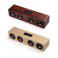 China 4 Loudspeakers Type Wooden Bluetooth Speaker Big Power Micro SD Card Wooden Speaker on sale