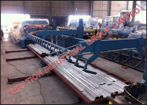China Full Automatic Floor Deck Sheet Metal Roll Forming Machines Thickness 0.8-1.2mm on sale