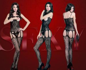 China bodystocking pictures of women black panties lingerie fishing net on sale