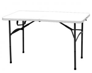 China Outdoor Furniture White Foldable Plastic Tables For Garden / Camping on sale