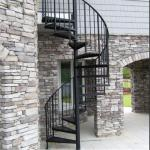 Exterior stainless steel spiral staircase design /prefabricated outdoor metal stairs