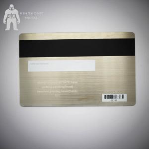 Bespoke Brushed Metal Business Cards , Silver Metallic Print Business Cards  304 Steel