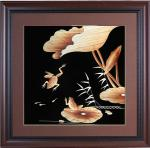 Chinese wind living room decoration painting straw painting, business gift straw painting