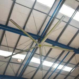 China 220v / 380v Commercial Large HVLS Ceiling Fans With Stable Working on sale