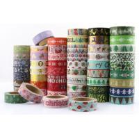 mini masking paper washi tape roll,China factory custom 100 rolls Halloween Christmas festival design washi paper tape