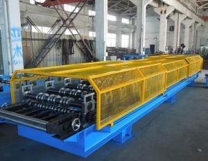China rollo del panel del tejado del trapezoide de la anchura del 1.25M que forma la máquina para los edificios comerciales del metal on sale