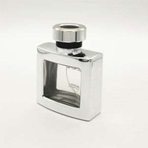 China Square Uv Coating Decorative Perfume Bottles With Pump Sprayer Refillable on sale