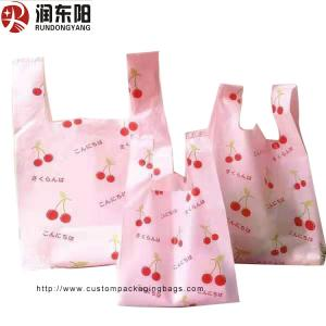 China T Shirt Vest Custom Printed Carrier Bags PE Material Moisture Proof Recyclable on sale