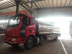 China HOT SALE! New FAW 8*4 LHD 25,000Liters road milk tank vehicle, factory sale best price FAW liquid food tank vehicle on sale