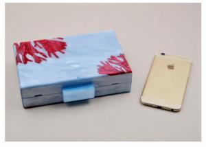 China Popular Blue Acrylic Box Purse , Ladies Fashion Acrylic Clutch Purse Handbags on sale