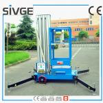 China 10m Single Mast Blue Aerial Working Platform Aluminium Alloy With 120kg Load wholesale
