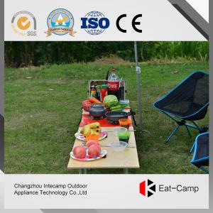 China Outdoor Folding Square Kitchen Storage Boxes With Windproof Stoves 40L on sale