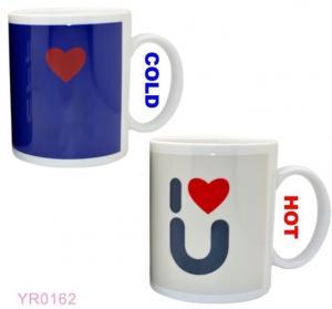 China Factory custom color change magic mug change color/hot water colour change mug on sale