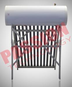 China Professional Heat Pipe Solar Water Heater With 20 Tubes Aluminum Reflector Frame on sale