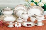 Ensembles en céramique blancs imperméables de vaisselle pour le restaurant commercial d'étoile