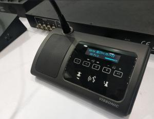 China Full Digital Audio Conference Microphone Cat5 Voting Unit With Touchable Interface on sale