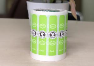China Non Toxic Synthetic Paper Sticker , Rollings / Sheets Printed Self Adhesive Labels on sale