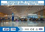 Heavy Steel Frame Structure , Large Prefabricated Steel Frame Homes ATSM Standard
