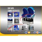 Cine virtual azul de la acción que tira 9D pantalla táctil giratoria de 360 grados HD 1080P