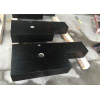Black Sparkle Quartz Engineered Stone Countertops With Aprons Laminated