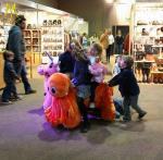 Hansel amusement park games stuffed indoor zoo animals kiddie ride for sale