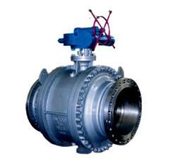 China Cast steel trunnion mounted ball valve on sale