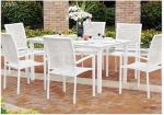Outside Patio Furniture Sets Metal Patio Table And Chairs Set UV Resistance