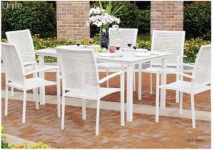 Quality Outside Patio Furniture Sets Metal Patio Table And Chairs Set UV Resistance for sale