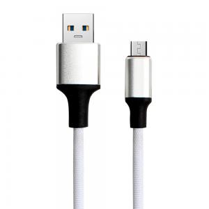 China 1M 2M 3M Nylon Braided Micro Usb Cable Mobile Phone Cables For Android / Apple Phone on sale
