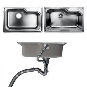 China Éviers de salle de bains de cuisine d'Undermount avec le matériel balayé par cuvette simple en métal on sale