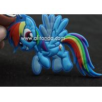 Unicorn keychain supply rainbow horse shape key chain custom animal figure design key ring OEM ODM