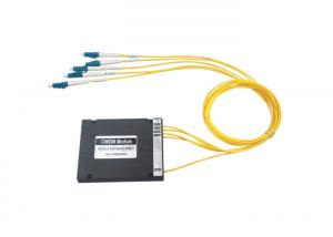 China 4 Channels CWDM MUX DEMUX Module Single Fiber With LC / PC Connector on sale