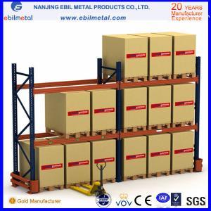China Estante ajustable del haz de acero de Q235b/estante de la plataforma para el estante del almacén con la echada de 75m m y de 50.8m m on sale