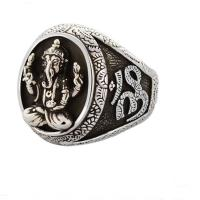 China Thai 925 Silver Gold Tone Retro Womens Mens Buddhist Fashion Jewelry(036389W) on sale