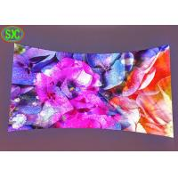 Cabinet IP43 P3.91 P4 P5 Curved Led Screens , Curved Led Display 3D Available