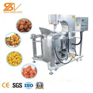 China Intelligent Automatic Popcorn Making Machine Gas Heating Corn Popper on sale