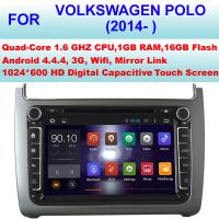 China 8 Inch Volkswagen DVD GPS Player 2014 - 2016 VW Polo Navigation System With Bluetooth on sale