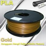 1.75mm /  3.0mm Gold PLA 3d Printer Filament 100% biodegradable