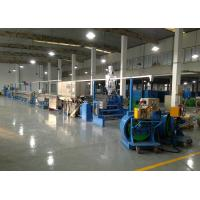Power wire plastic extrusion machinery With Folding W Type Cooling Channel