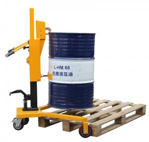 China Loading 450Kg Pedaled Hydraulic Forklift Drum Lifter, Drum Lifting Trolley on sale